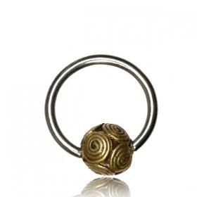 "\""Shukry\"" steel and brass jewel"