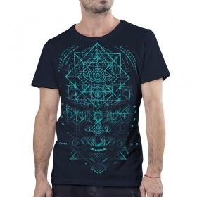 T-shirt \'\'Emet\'\', Bleu foncé