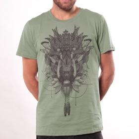 T-shirt \'\'Featherface\'\', Vert clair