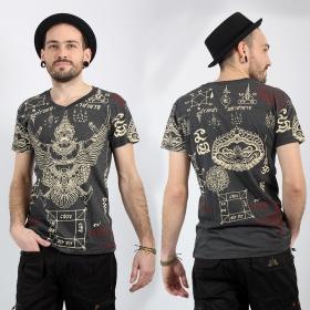 T-shirt \'\'Garuda\'\', Gris foncé