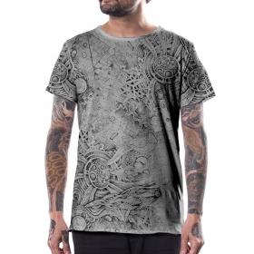 T-shirt \'\'Overtones\'\', Gris clair
