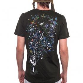 """T-Shirt \""""Albert Hoffman\"""", Marron Foncé"""
