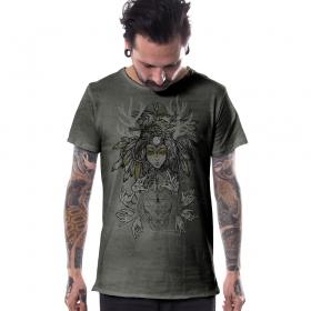 "T-shirt \""Banshee\"", Olive vieilli"