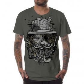 """T-shirt \""""Cogwheel\"""", Olive"""