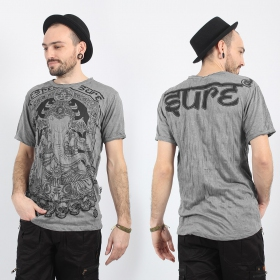 "T-shirt ""Ganesh Sure\"", Gris clair"
