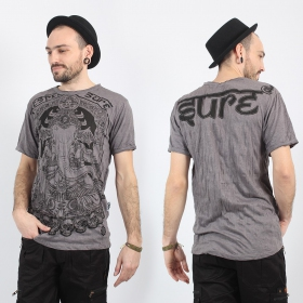 "T-shirt ""ganesh sure\"", Gris"