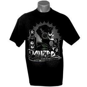 """T-shirt \""""sound is mine\"""", noir"""