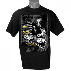 "T-shirt \""urban voice\"", noir"