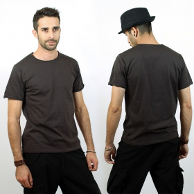 "T-shirt \""woonwai\"", gris charbon"