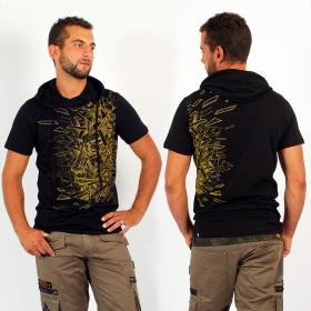 """T-shirt capuche PlazmaLab \""""Angle\"""", Noir"""