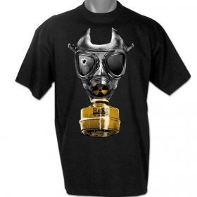"T-shirt hardcore \""mask � gaz\"""