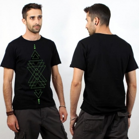 "T-shirt jungle therapy ""triangle totem"""