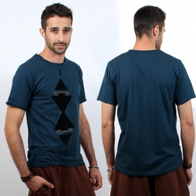 """T-shirt jungle therapy \""""triangle totem\"""""""