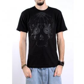 """T-shirt kobolld \""""electro mandala\"""", noir"""