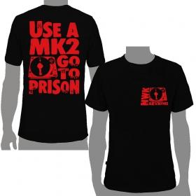 """T-shirt Nawak \""""MK2\"""", Noir"""