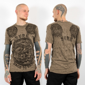 T-shirt ohm marron clair