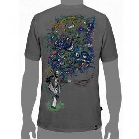 """T-Shirt PlazmaLab \""""Albert Hoffman\"""", Gris"""
