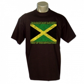 """T-shirt rasta \""""jamaican music\"""", noir"""