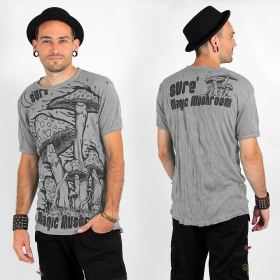 "T-shirt Sure ""Magic mushroom\"", Gris clair"