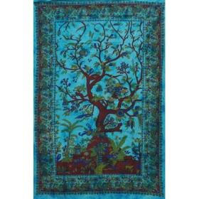 Tenture \'\'Arbre de Vie\'\', Turquoise