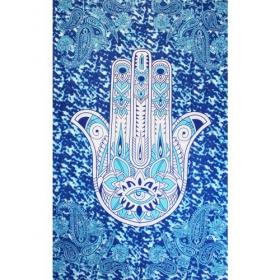 Tenture \'\'Fatima hand\'\', Bleu