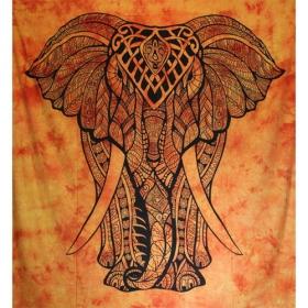 Tenture \'\'Geometrical Elephant\'\', Orange