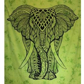 Tenture \'\'Geometrical Elephant\'\', Vert