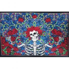 Tenture \'\'Skull Greatful\'\', Multicolor