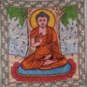 """Tenture \""""Bouddha Handbrush\"""" 2,10m x 2,40m"""