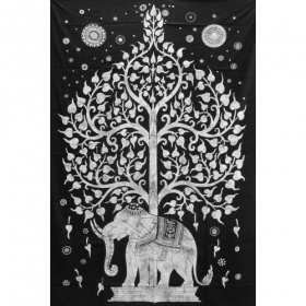 "Tenture \""Elephant\"", Blanche 1,40m x 2,20m"