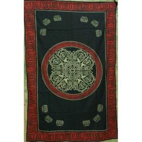 "Tenture \""Mandala Multi\"", Vert 1,40m x 2,20m"
