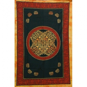 "Tenture \""Mandala Multi\"", Violet 1,40m x 2,20m"