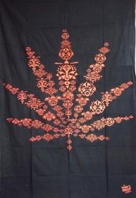 """Tenture \""""znootpoch leaf\"""" 1.40m x 2.20m"""