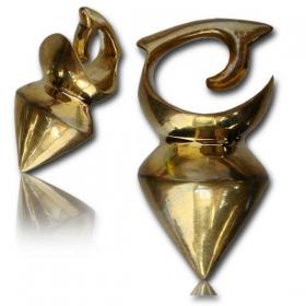 "\""Tidaya\"" Brass ear jewel / Weight"