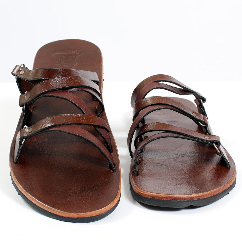 tong en cuir lakshan marron fonc taille 41 homme chaussures. Black Bedroom Furniture Sets. Home Design Ideas