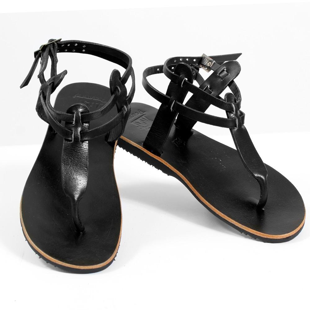 tong en cuir manja noir taille 36 femme chaussures sandales bottes. Black Bedroom Furniture Sets. Home Design Ideas
