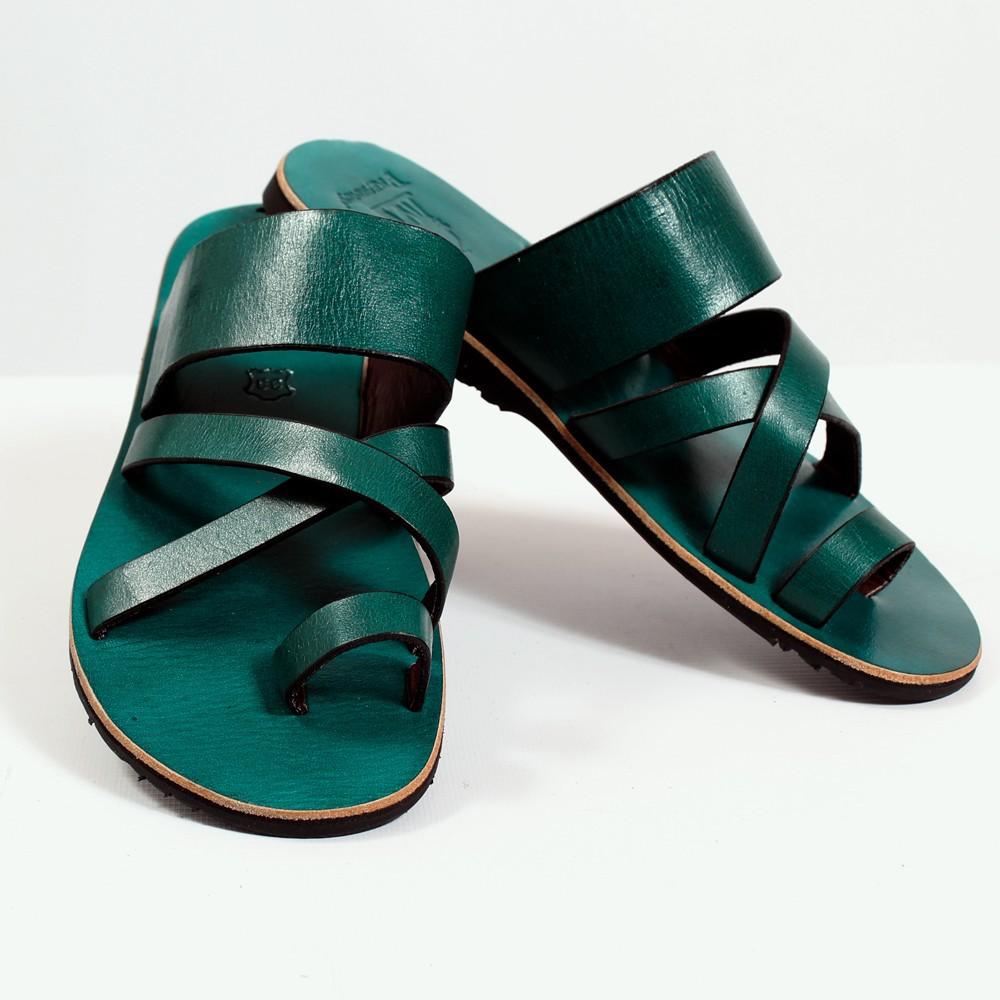 tong en cuir nagai bleu p trole taille 36 femme chaussures sandales bottes. Black Bedroom Furniture Sets. Home Design Ideas
