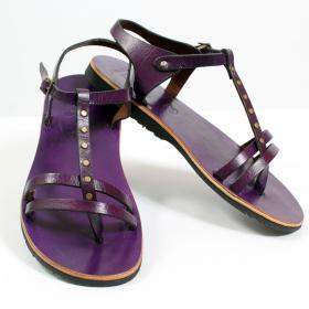 """Tong en cuir \""""nimisha\"""", violet"""