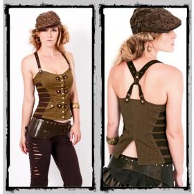 "Top fairy floss \""underground corset\"", olive"
