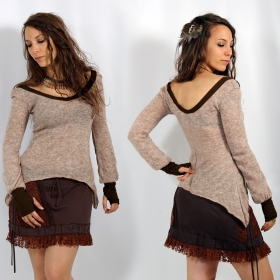"Top pull ""Jade\"", Beige et marron"