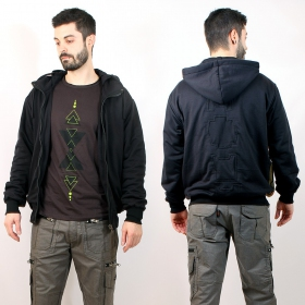 Veste Noire Indian & Vector  Pixel Zoom RECTO VERSO