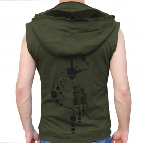 "Veste sans manche jungle therapy ""crop circles"""