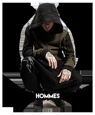 Vêtements alternatifs pour homme, fringues underground