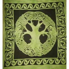 """Tenture """"Angel Tree"""", Vert"""