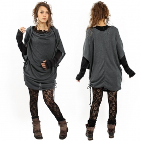 "Top tunique ""Mandlu"", Gris anthracite"