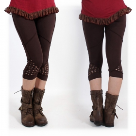 "Leggings ""Aswad"" court, Marron"