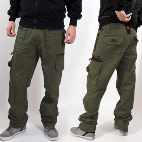 "Pantalon cargo ""Vector"", Vert kaki foncé"