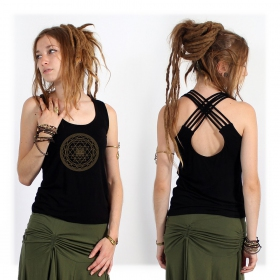 "Top ""Sacred Geometry"", Noir"