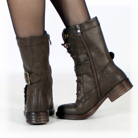 "Bottines ""Menaka"", Marron foncé"