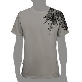 "T-shirt PlazmaLab ""Ostrich"" Gris Clair"